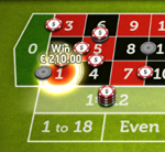 Small win on live roulette